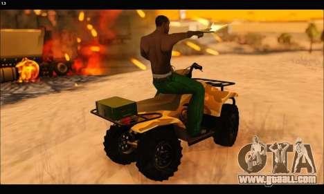 ATV Army Edition v.3 for GTA San Andreas upper view