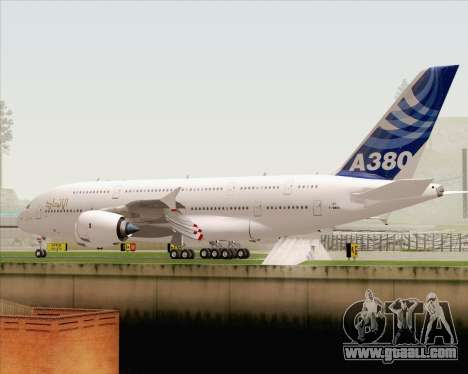 Airbus A380-800 F-WWDD Etihad Titles for GTA San Andreas bottom view