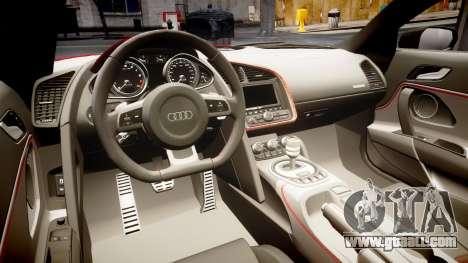 Audi R8 E-Tron 2014 for GTA 4 inner view