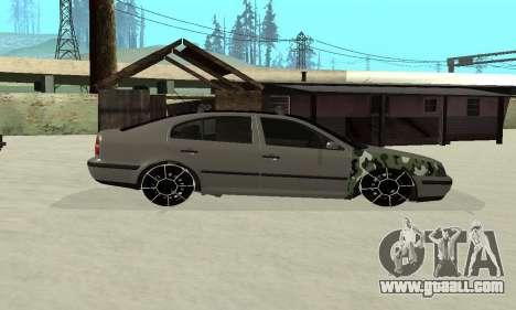 Skoda Octavia Winter Mode for GTA San Andreas inner view