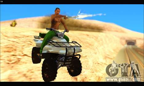 ATV Army Edition v.3 for GTA San Andreas left view