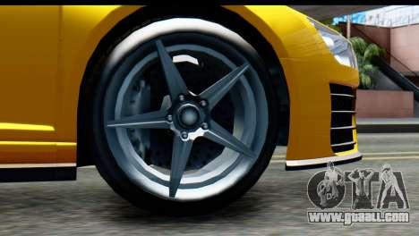 GTA 5 Obey 9F Cabrio IVF for GTA San Andreas back left view