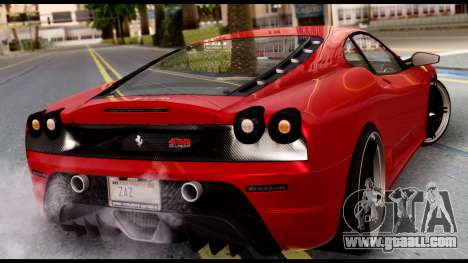 Ferrari F430 Scuderia for GTA San Andreas left view