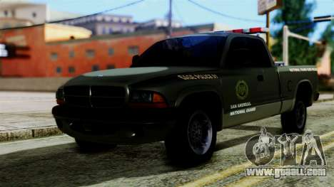 Dodge Dakota National Guard Base Police for GTA San Andreas