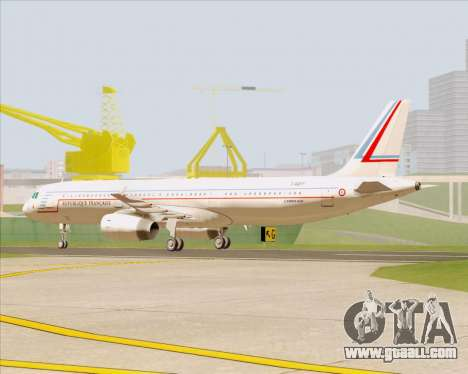 Airbus A321-200 French Government for GTA San Andreas left view