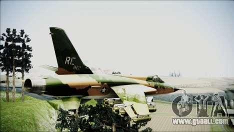 F-105 Thunderchief Polish Glider for GTA San Andreas left view