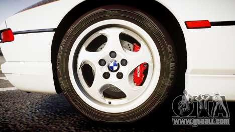 BMW E31 850CSi 1995 [EPM] Carbon for GTA 4 back view