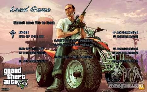 GTA 5 Menu for GTA San Andreas second screenshot