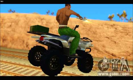 ATV Army Edition v.3 for GTA San Andreas back left view