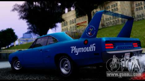 Plymouth Roadrunner Superbird RM23 1970 IVF for GTA San Andreas back view