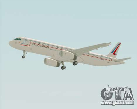 Airbus A321-200 French Government for GTA San Andreas side view
