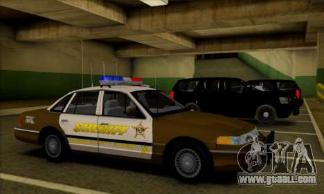 Ford Crown Victoria 1994 Sheriff for GTA San Andreas inner view