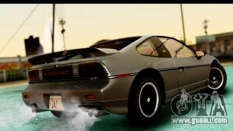 Pontiac Fiero GT G97 1985 HQLM for GTA San Andreas left view