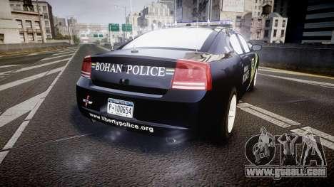 Dodge Charger 2006 Sheriff Bohan [ELS] for GTA 4 back left view