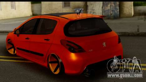 Peugeot 308 ENS Tuning for GTA San Andreas left view