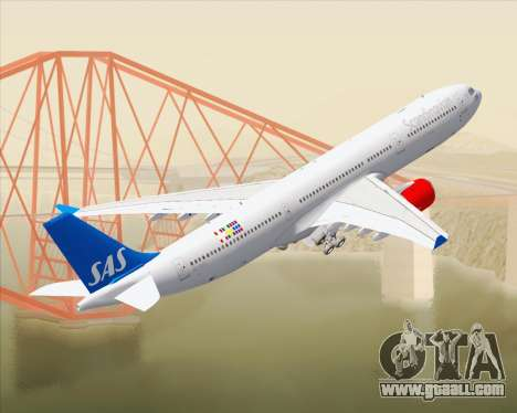 Airbus A330-300 Scandinavian Airlines for GTA San Andreas interior