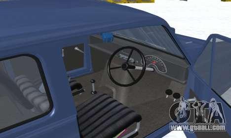 Reliant Supervan III for GTA San Andreas interior