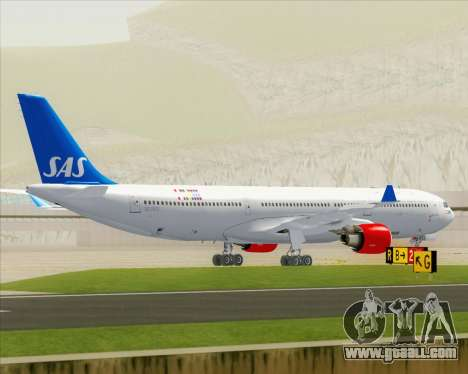 Airbus A330-300 Scandinavian Airlines for GTA San Andreas upper view
