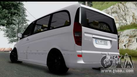 Mercedes-Benz Viano 2010 for GTA San Andreas back left view