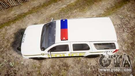 Chevrolet Tahoe 2010 Police Alderney [ELS] for GTA 4 right view