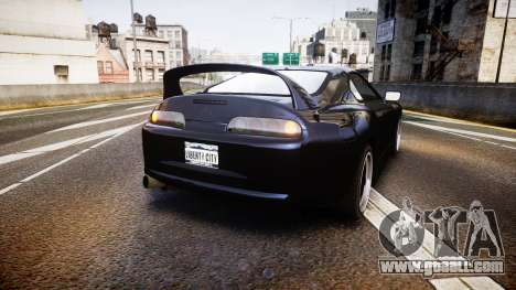 Toyota Supra Tuned for GTA 4 back left view