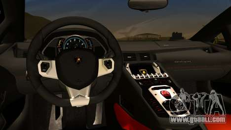 Lamborghini Aventador for GTA San Andreas back left view