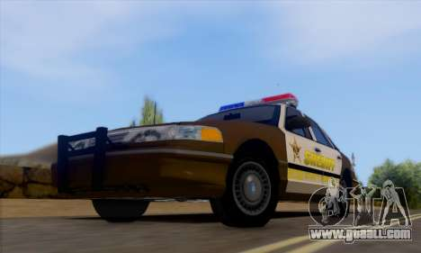 Ford Crown Victoria 1994 Sheriff for GTA San Andreas left view