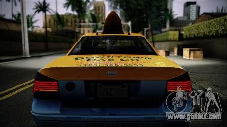 Taxi Vapid Stanier II from GTA 4 IVF for GTA San Andreas