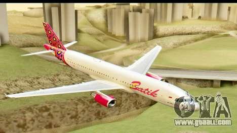 Airbus A320 Batik Air for GTA San Andreas