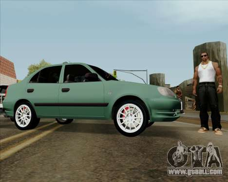 Hyundai Accent 2004 for GTA San Andreas right view