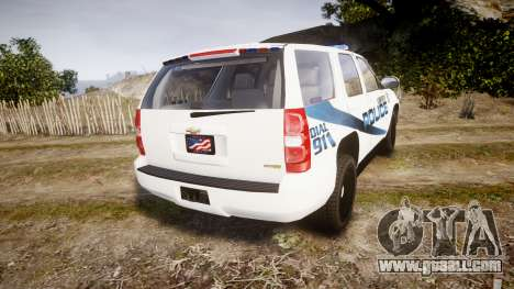 Chevrolet Tahoe 2010 LCPD [ELS] for GTA 4 back left view
