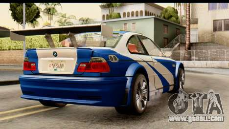 BMW M3 E46 GTR NFS MW for GTA San Andreas left view