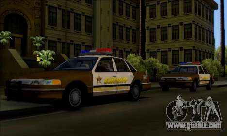 Ford Crown Victoria 1994 Sheriff for GTA San Andreas side view