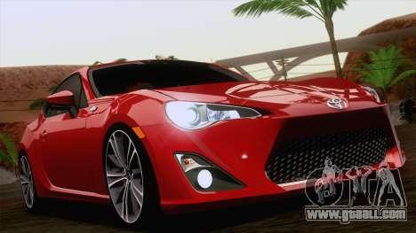 Toyota GT86 (ZN6) 2012 for GTA San Andreas interior