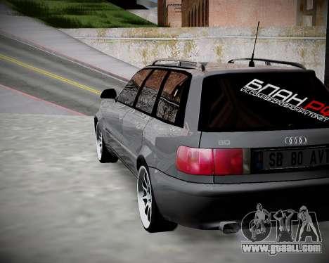 Audi 80 B4 Avant BAN.RF for GTA San Andreas left view