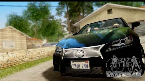 Lexus GS350 Indonesian Police for GTA San Andreas back view