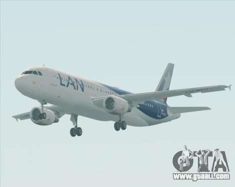 Airbus A320-200 LAN Argentina for GTA San Andreas inner view