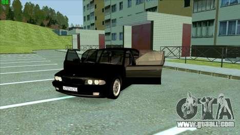 BMW 730i for GTA San Andreas bottom view