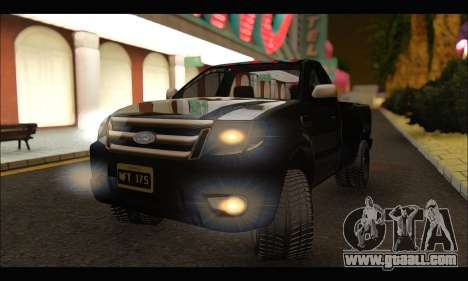Ford Ranger Cabina Simple 2013 for GTA San Andreas right view