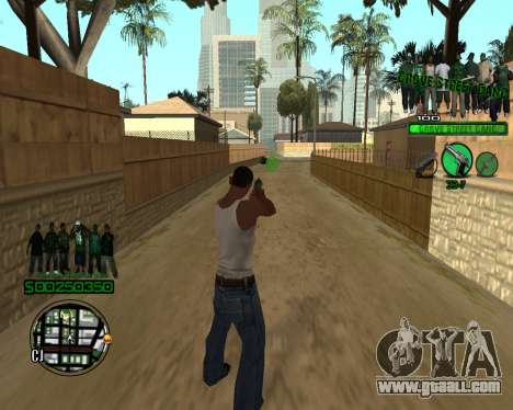 C-HUD Grove for GTA San Andreas