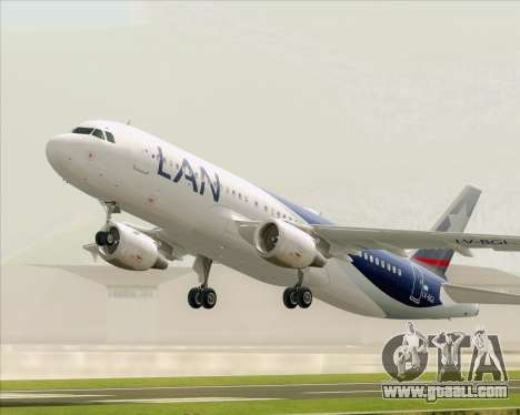 Airbus A320-200 LAN Argentina for GTA San Andreas side view