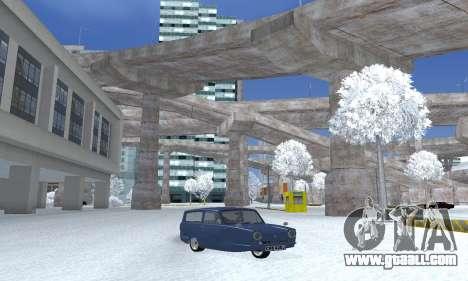 Reliant Supervan III for GTA San Andreas back left view