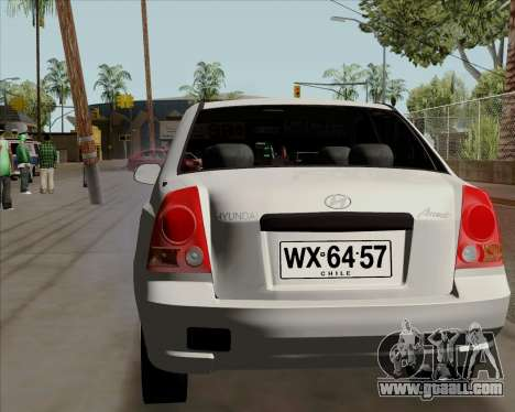 Hyundai Accent 2004 for GTA San Andreas back left view