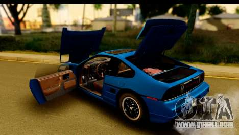 Pontiac Fiero GT G97 1985 HQLM for GTA San Andreas inner view