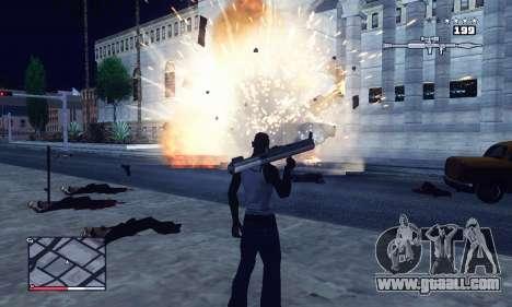 C-HUD GTA 4 with Map for GTA San Andreas forth screenshot