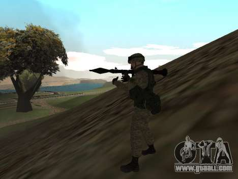 Soldiers of the Russian army in the Warrior outf for GTA San Andreas second screenshot
