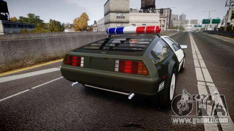 DeLorean DMC-12 [Final] Police for GTA 4 back left view