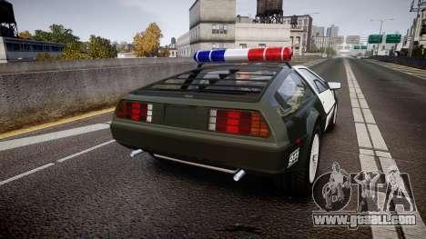 DeLorean DMC-12 [Final] Police for GTA 4 back left view