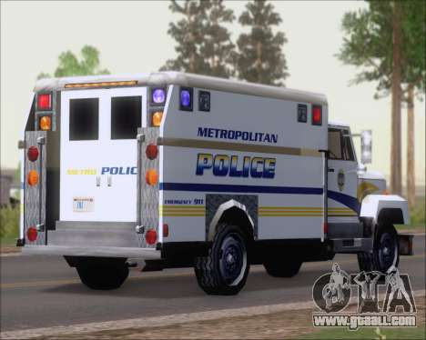 Enforcer Metropolitan Police for GTA San Andreas back left view