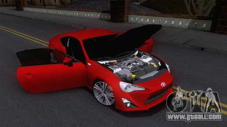 Toyota GT86 (ZN6) 2012 for GTA San Andreas side view